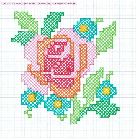 cross stitch diy oversized cross stitch wall art design sponge