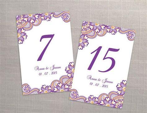 printable table numbers designs diy printable wedding table number template 2366758