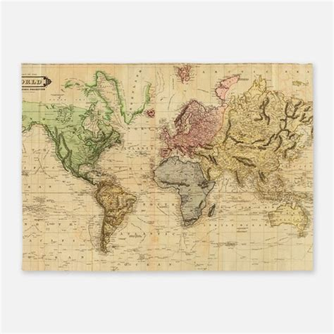 Vintage Map Rugs Vintage Map Area Rugs Indoor Outdoor Rugs World Map Rug