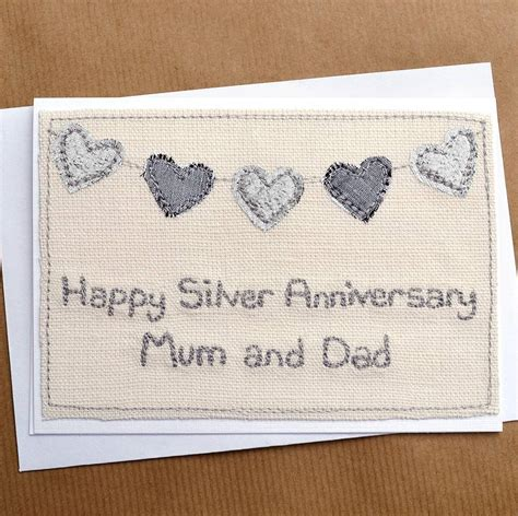silver wedding anniversary card images bunting silver wedding anniversary card by arnott cards gifts notonthehighstreet