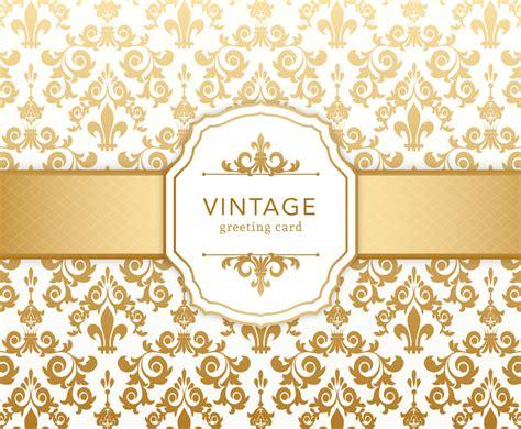 vintage pattern note cards golden card 100 images premium shape golden business