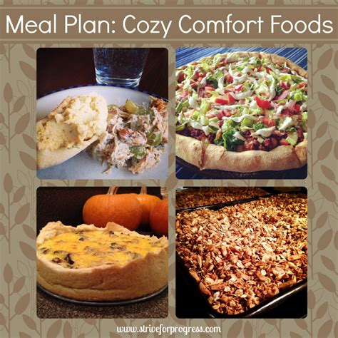 cozy comfort meal plan cozy comfort foods natalie hixson