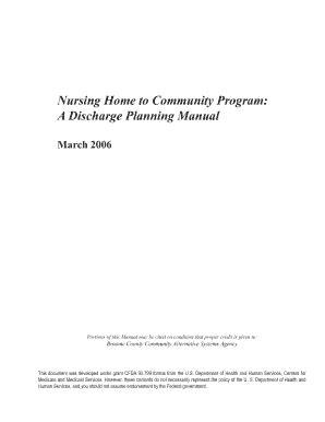 nursing home discharge planning form fill