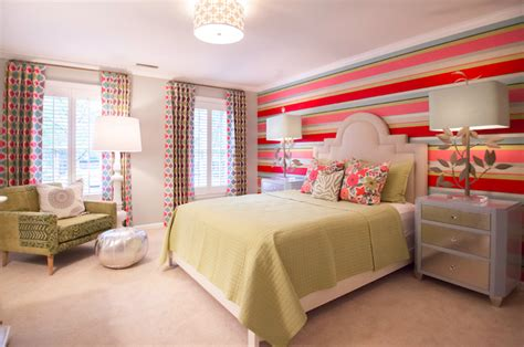 girls bedroom accent wall striped accent wall contemporary girl s room lucy