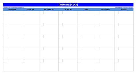 Blank 2015 Monthly Calendar Printable ? 2017 printable