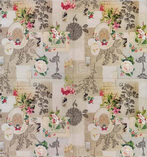 Decoupage Vintage - decoupage paper of vintage roses birds and butterflies