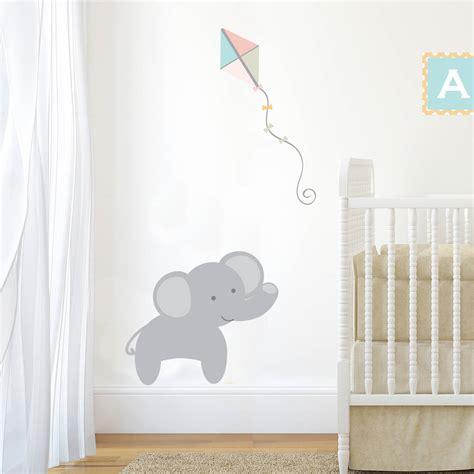 elephant wall stickers for nursery pastel jungle elephant wall sticker by nutmeg
