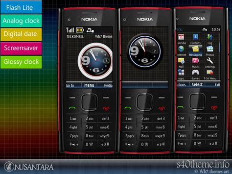 themes nokia x2 02 theme glossy clock for x2 available free version