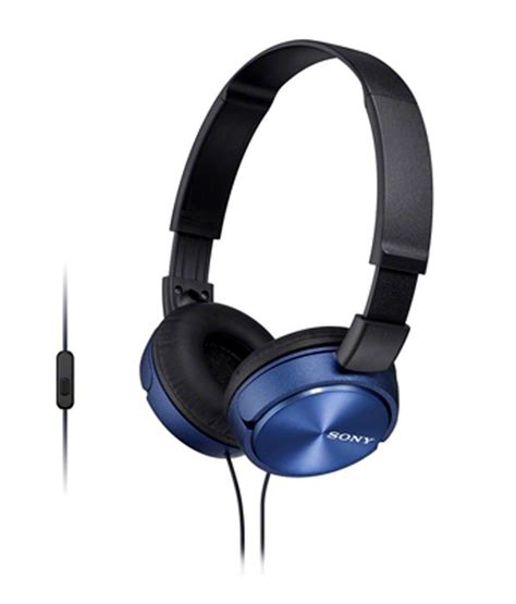 Headset Sony Mic Xb337 Promo buy sony mdrzx310ap ear headphones with mic blue and black at best price in india