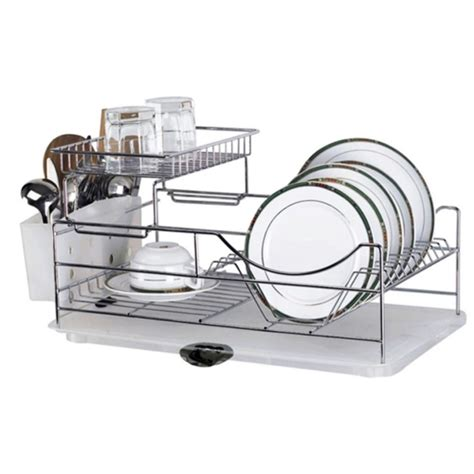Dish Rack With Drainer Tray by Dish Drainer With Glass Tray Masflex