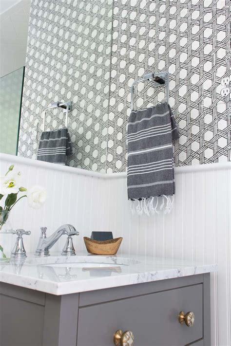 using wallpaper in bathrooms my secret weapon for wallpapering your bathroom driven by decor