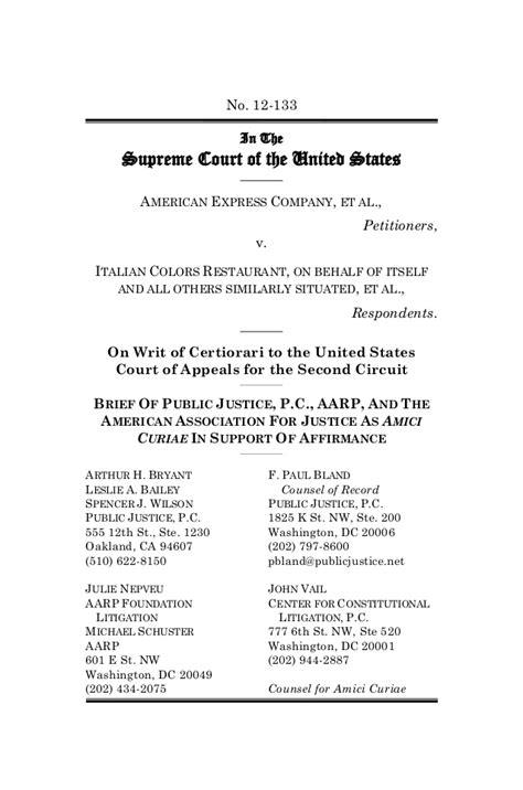 Arbitration Briefformat Brief Exle