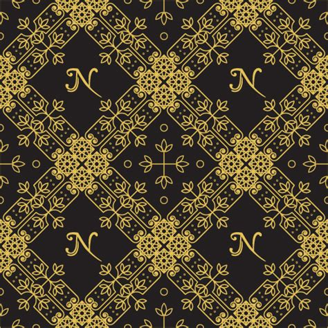 vector pattern luxury gold lineart seamless pattern luxury vector free vector in