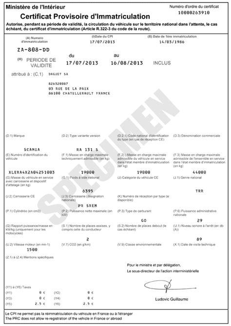 Mes papiers en images - Site Immatriculation