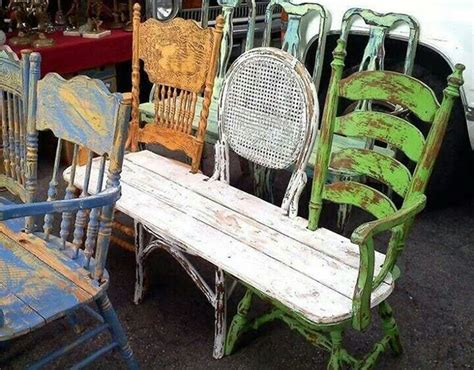 bench out of chairs trash to treasure 17 recycled arts crafts projects