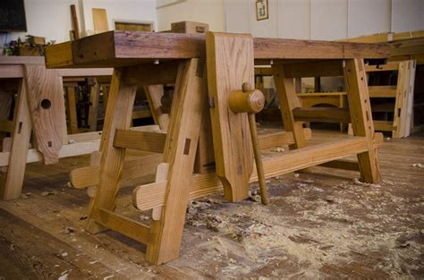 woodwork benches for schools the portable moravian workbench at the woodwright s school
