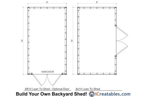 shed floor plans design 8x14 lean to shed plans storage shed plans icreatables com