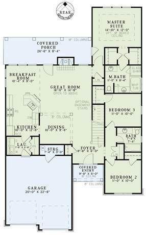 plan   bedroom  bath house plan   car garage