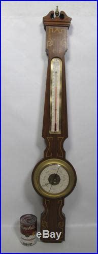 antique wittnauer weather station brass wood wall