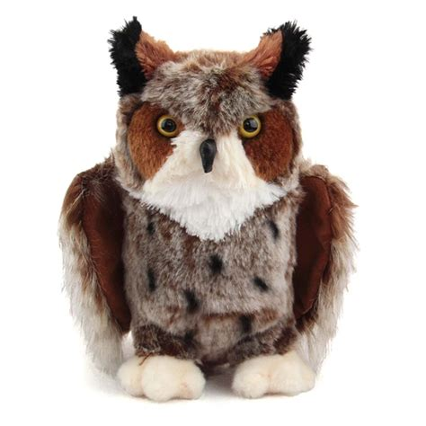 owl stuffed animal einstein the great horned owl stuffed animal by douglas