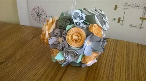 How To Make Paper Flower Balls For Wedding - hanging paper flower gray mint garden