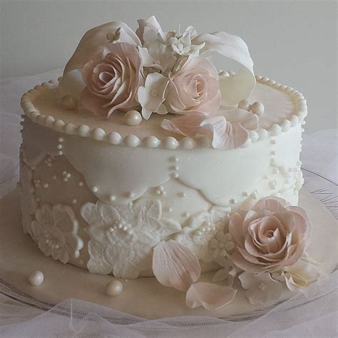 Little Wedding Cakes, One Tier Wedding Cakes, Simple