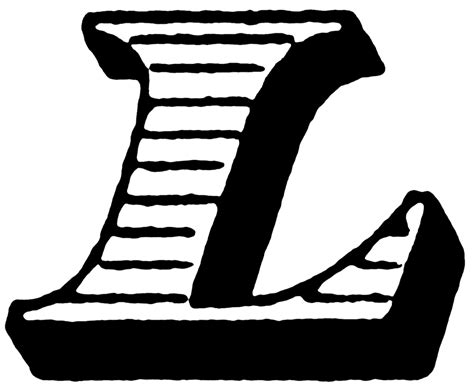 With L by L Italic Initial Clipart Etc