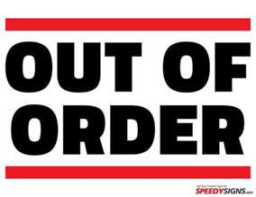 Bathroom Out Of Order Sign Printable Signs Restroom Out Of Order 1 Motorcycle