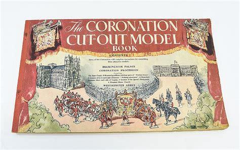 Press Out Model Book the coronation cut out model book 1953 a complete un cut