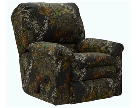 realtree camouflage rocker recliner trapper rocker recliner in mossy oak or realtree