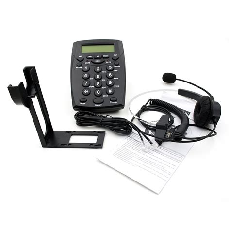 hands free desk phone telephone hands free headset with backlight caller id lcd
