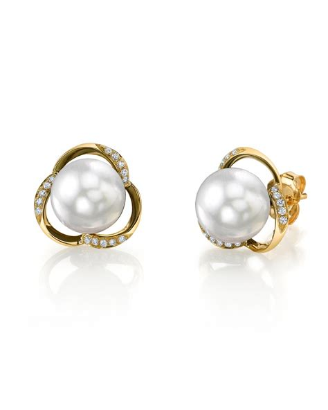 south sea pearl ruby earrings