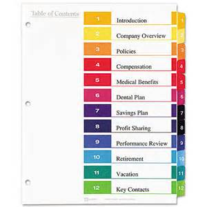 Avery Ready Index Dividers 10 Tab Template » Home Design 2017