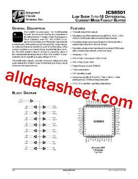 datasheet for integrated circuits ics8501 datasheet pdf integrated circuit systems