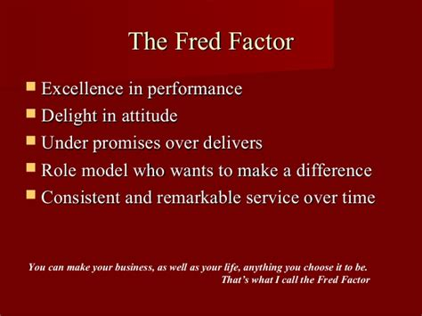 the fred factor the fred factor