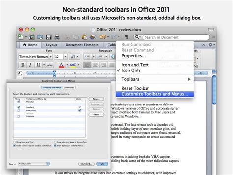 Microsoft Office On Mac by Review Microsoft S Office 2011 For Mac