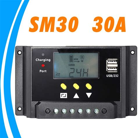 Solar Charge Controller 30 A With Usb aliexpress buy 30a lcd solar charge controller with