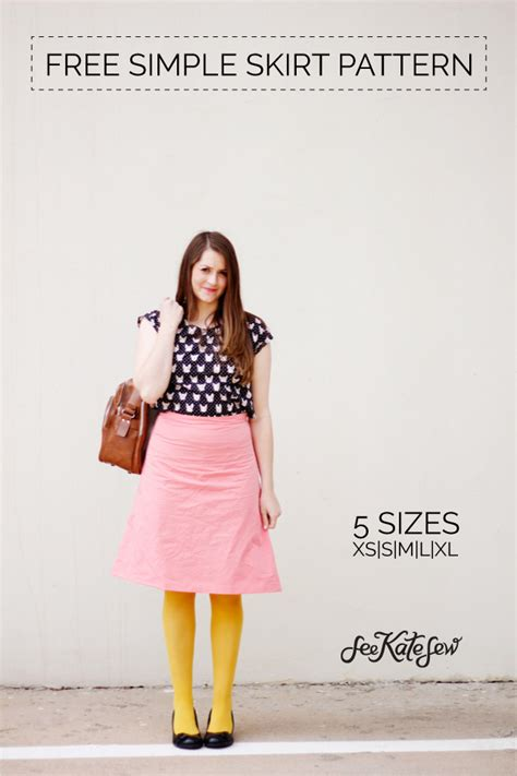 zippers a free simple skirt pattern see kate sew