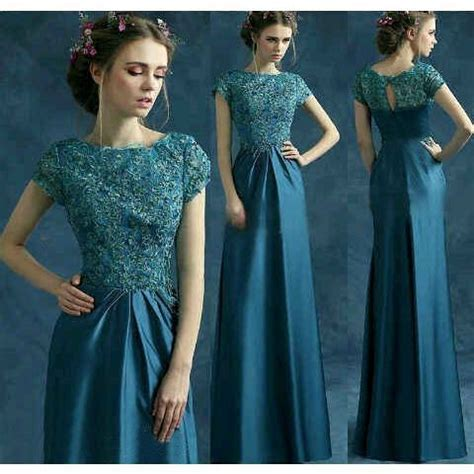 baju gaun dress pesta warna tosca cantik murah