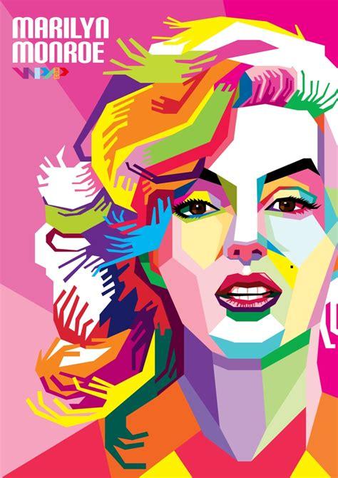 tutorial vector corel draw wpap pop art marilyn monroe in wpap by arafah on deviantart