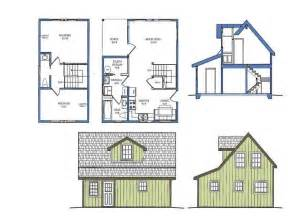 Tiny Plans Small Cottage Floor Plan With Loft Small Cottage Designs