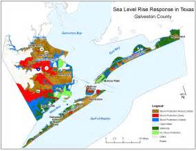 galveston on map sea level rise planning maps likelihood of shore