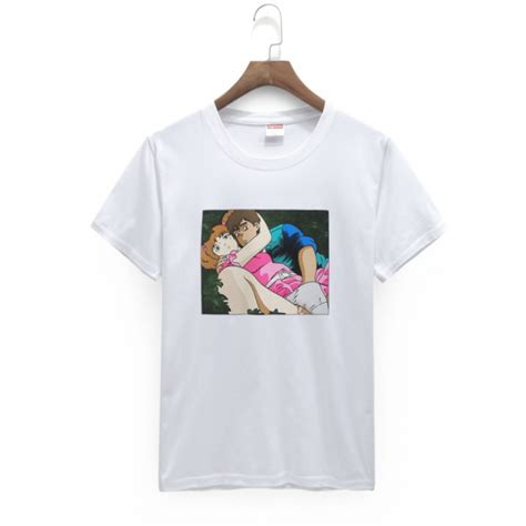 Anime Shirts supreme anime crewneck t shirt white