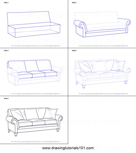 basic upholstery step by step how to draw sofa printable step by step drawing sheet