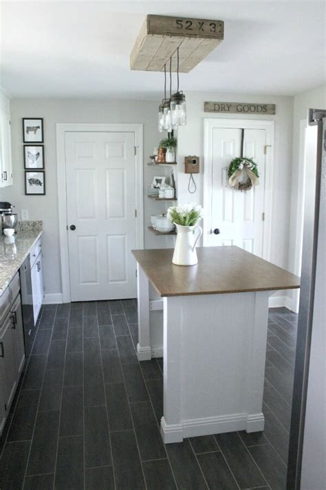 diy farmhouse kitchen makeover for 5000 including farmhouse pantry makeover reveal noting grace