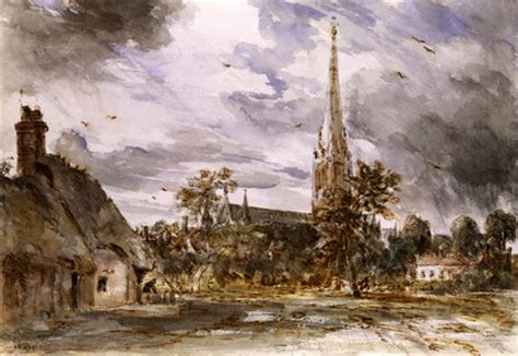 by john constable salisbury cathedral salisbury cathedral with cottages by john constable