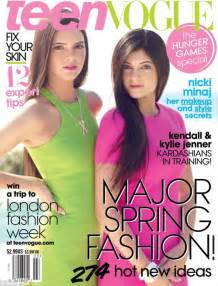 teen vogue kylie jenner kim kardashian s siblings kendall and kylie jenner cover