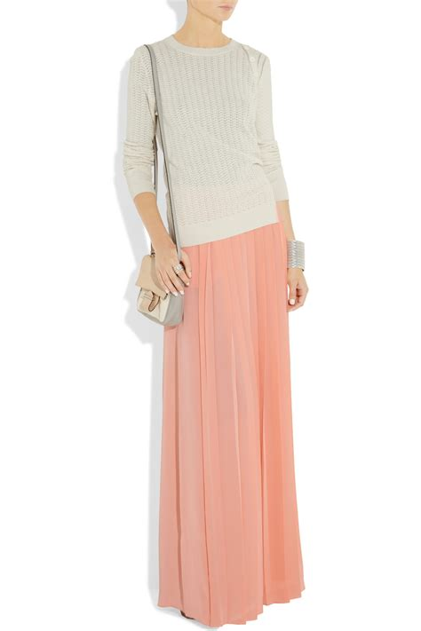 brainy mademoiselle pleated maxi skirt