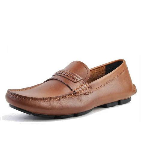 driving loafers mens mens slip on leather driving shoes loafers cw740306