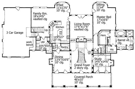 foyer house plans grand foyer 5499lk architectural designs house plans